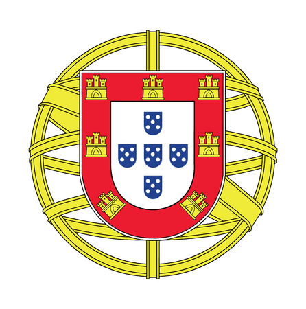 Coat of arms of Portugal, vector illustration