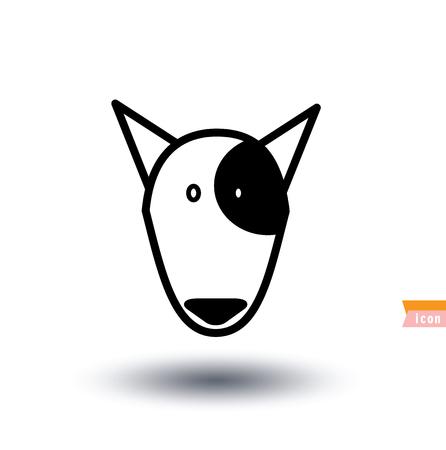 beware: dog icon - vector illustration. Illustration
