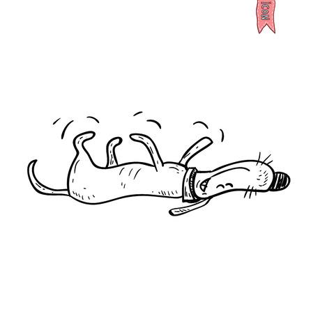 dog icon - vector illustration. Illusztráció