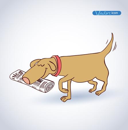 beware of dog: dog icon - vector illustration. Illustration