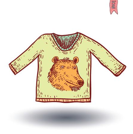 ot: Portrait ot Bear, Hand Drawn Vector