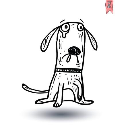big dog: dog icon - vector illustration. Illustration