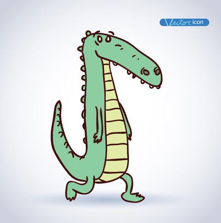 Ilustración De Dibujos Animados De Cocodrilo Ilustraciones ...