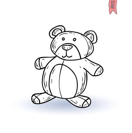 teddy bear vector: teddy bear. vector illustration. Illustration