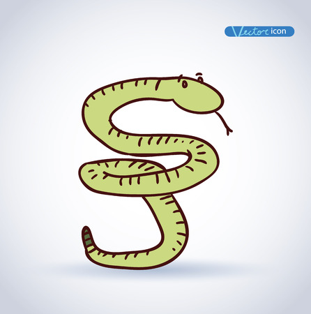 snake year: snake icon. vector illustration. Illustration