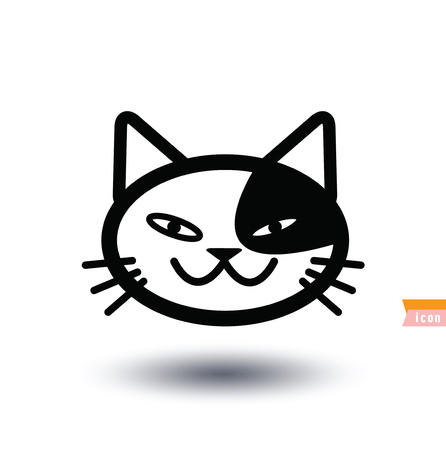 pussy cat: cat icon, vector illustration