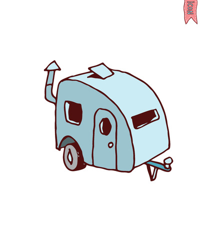 caravan: Caravan icon, vector illustration. Illustration