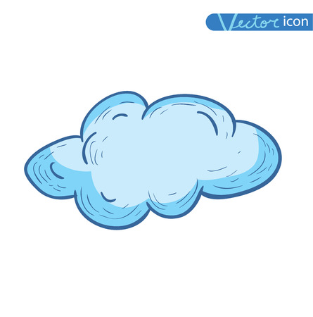 raindrop: Hand Drawn Vector Clouds Illustration