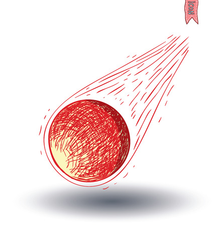 Meteorite, hand drawn vector illustration. Illustration