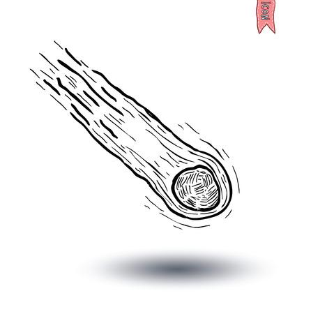 meteorite: Meteorite, hand drawn vector illustration. Illustration