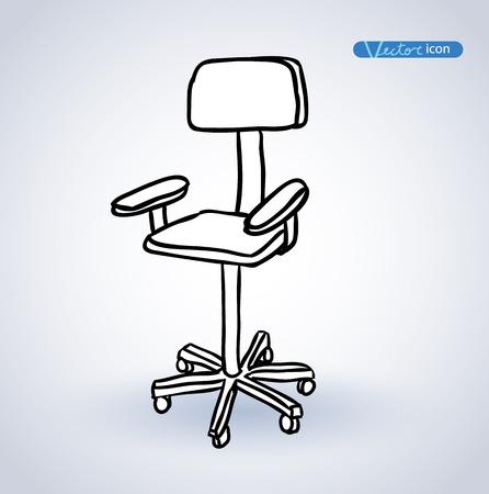 arredamento classico: Sedia, illustrazione vettoriale.