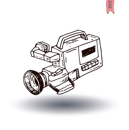 camcorder: camcorder icon, vector illustration Illustration