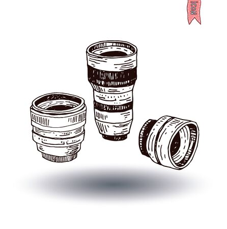 diopter: camera lens icon, vector illustration