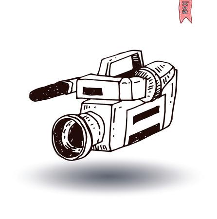 camcorder: camcorder icon, vector illustration Illustration