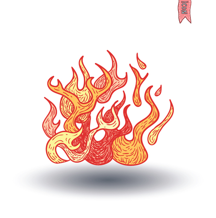 fire flame: Fire Flame Icon Isolated . Vector illustration. Illustration