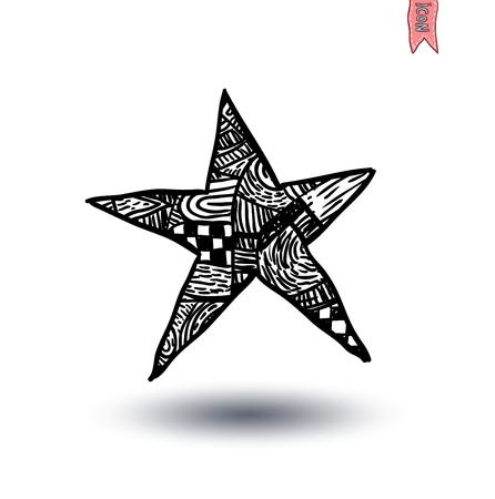 lucero: estrellas icono aislado. Ilustración del vector.