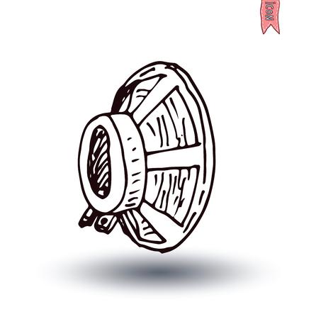 speaker icon: Speaker icon. Vector illustration.