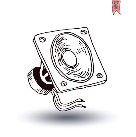 equipo de sonido: Icono del altavoz. Ilustración vectorial. Vectores