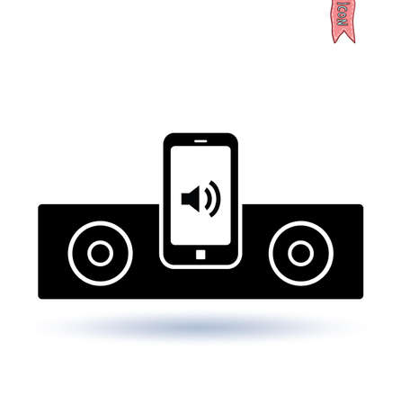 docking: Docking station for mobile phone . Illustration