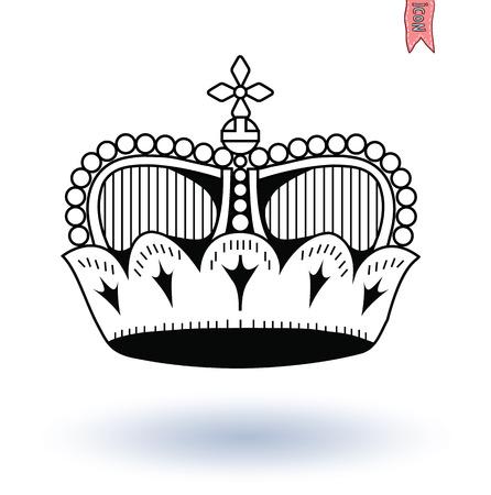 Krone, von Hand gezeichneten Vektor. Standard-Bild - 44569104