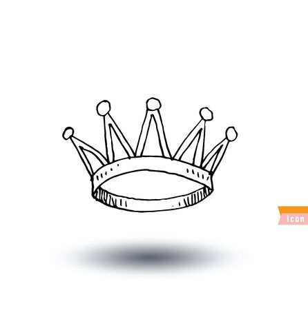 nobleman: crown,  hand drawn vector.