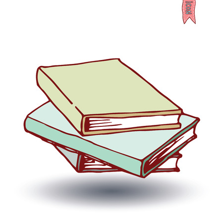 Book icon isolated, illustration vector.