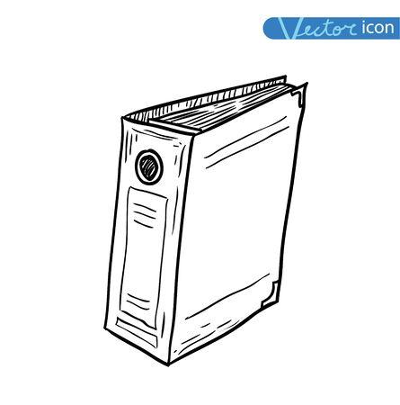 office binder, vector illustration.