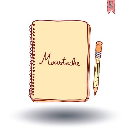 note book: Notebook. Vector illustration hand drawn.