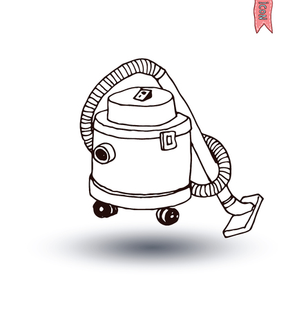 vac: vacuum cleaner icon, vector illustration
