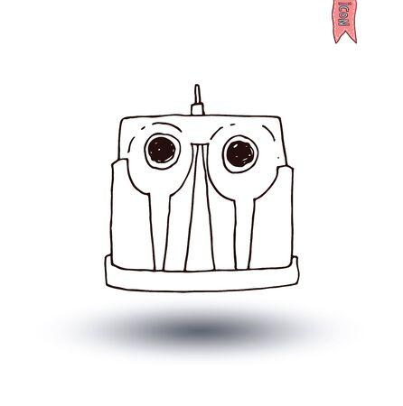 bin tub: trash can icon, vector illus Illustration