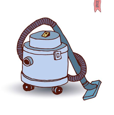hoover: vacuum cleaner icon, vector illustration
