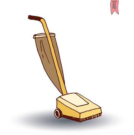 personal de limpieza: icono de la aspiradora, ilustración vectorial