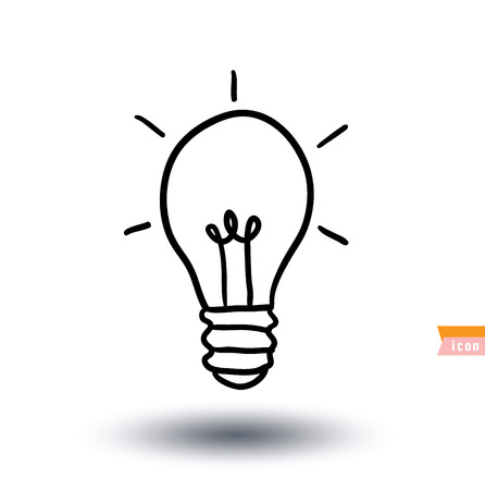 Bulb lamp idea icon illustration