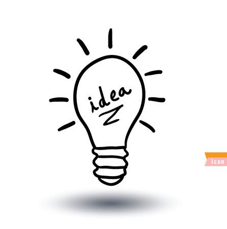 Gloeilamp illustratie idee pictogram Stock Illustratie