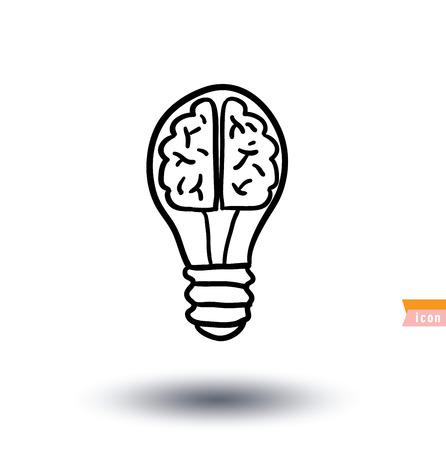 idea icon: Bulb lamp idea icon illustration