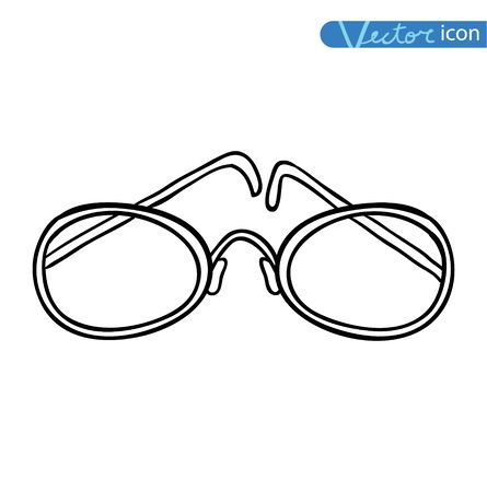 corrective lenses: Glasses Icon illustration Illustration