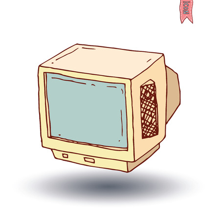 Television vintage   vector illustration