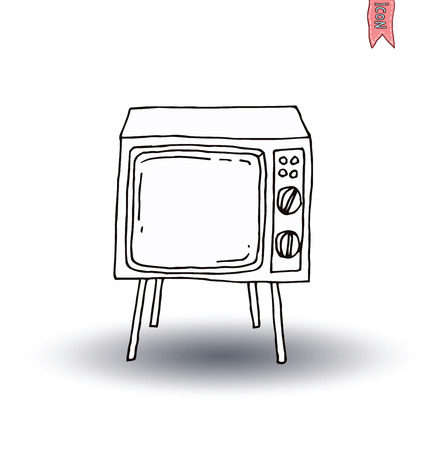 television icon: Television vintage   vector illustration