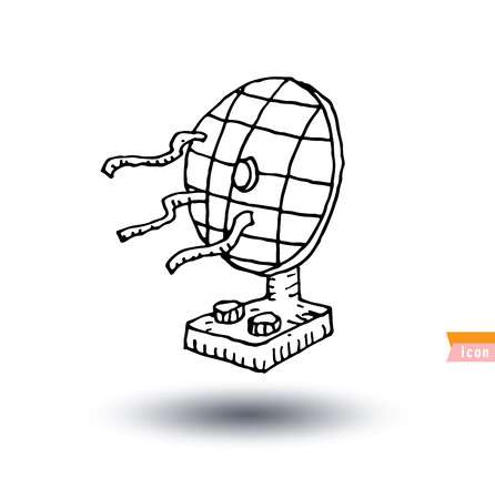 ventilate: table fan - vector illustration