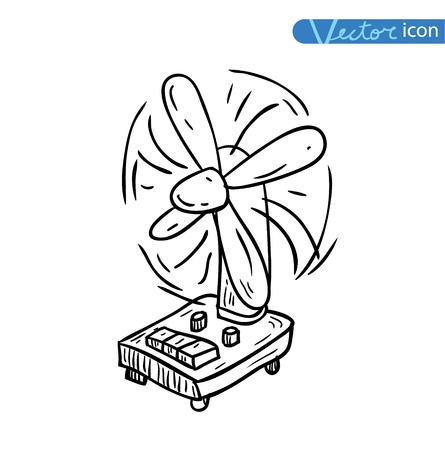 turn table: table fan - vector illustration