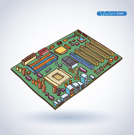 capacitor: computer motherboard, isolated
