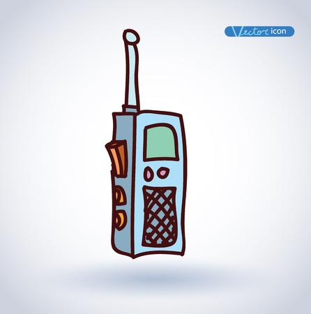 transceiver: walkie-talkie, radio transceiver , vector illustration. Illustration