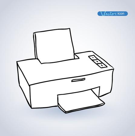 multifunction printer: Printer web icon. Illustration