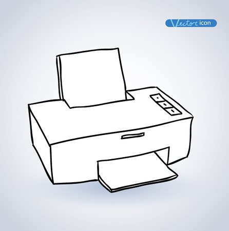 Printer web icon. Illustration
