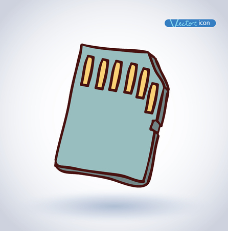 sd card: Micro sd card Icon Illustration