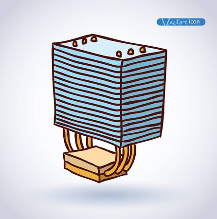 computer cpu: computer CPU cooler . vector illustration.