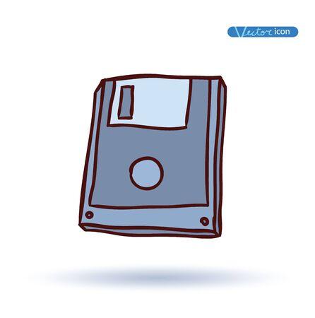disks: Floppy disks, vector illustration.
