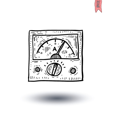 voltmeter pictogram - vector illustratie Stock Illustratie