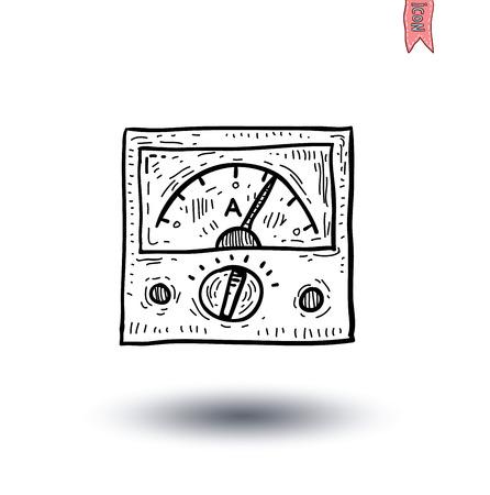 Voltmeter-Symbol - Vektor-Illustration Standard-Bild - 44559491