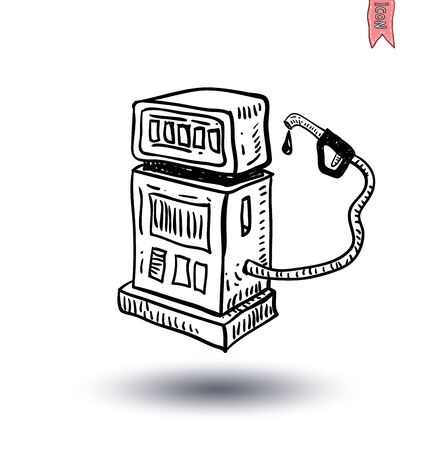 electricity icon: gas pump Electricity icon - vector illustration Illustration
